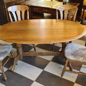 Масивна дъбова маса с 4 стола